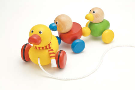 playing games: duck toy Stock Photo