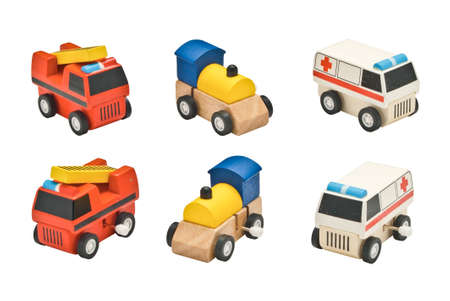 train, ambulance and fire truck toy