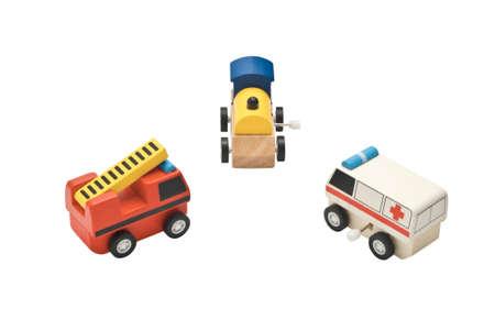 train, ambulance and fire truck toy photo
