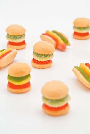 jelly burger   hot dog shape photo