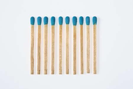 blue matchstick Stock Photo - 13164485