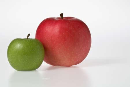 red apple   green apple Stock Photo