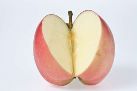 cleave: red apple  cleave Stock Photo