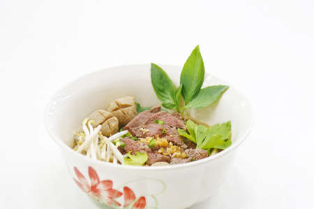 noodle beef, thai food photo