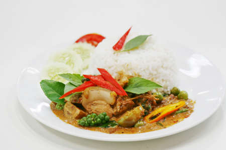 sanglier: pad ped moo pa, Thai Food Banque d'images