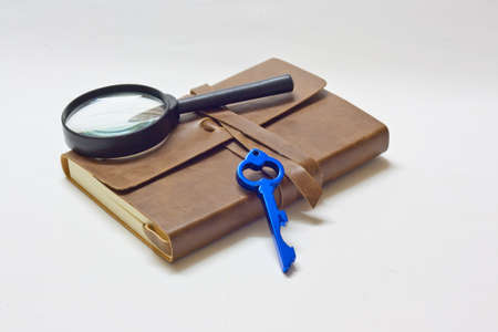 detective notebook   key Stock Photo - 13166845