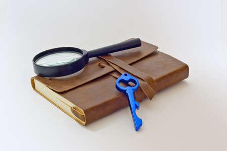 detective notebook   key Stock Photo - 13166846