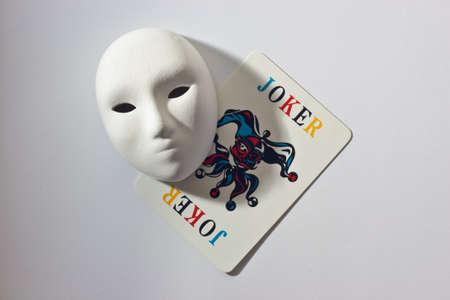 plaster mask and joker