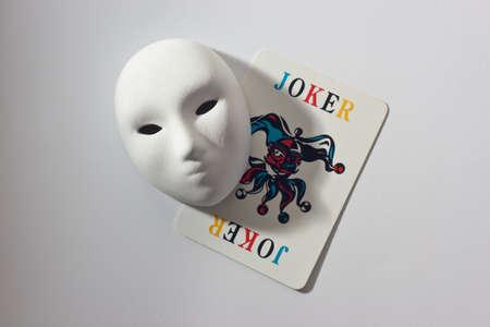 plaster mask and joker Stock Photo - 13161598