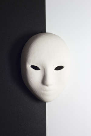 compared: plaster mask in studio, when compared to the good or bad
