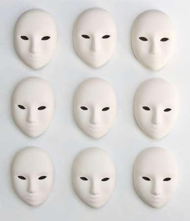 plaster mask in studio, use of for decoration or design