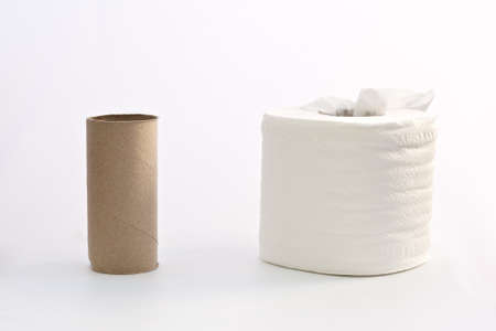 tissue roll, full and empty, mean be different Stock Photo - 13718487