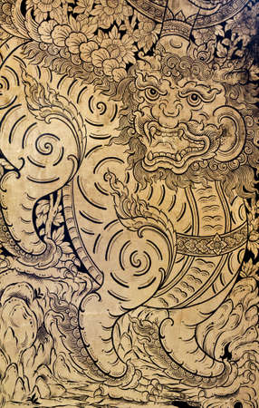 generality: generality in thailand, any kind of art decorated in buddhist church, temple pavilion, temple hall, monk