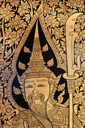 generality in thailand, any kind of art decorated in buddhist church, temple pavilion, temple hall, monk's house etc. created with money donated by people to hire artist. they are public domain or treasure of buddhism, no restrict in copy or use, no name  Stock Photo - 13714775