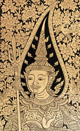 generality in thailand, any kind of art decorated in buddhist church, temple pavilion, temple hall, monks house etc. created with money donated by people to hire artist. they are public domain or treasure of buddhism, no restrict in copy or use, no name  photo