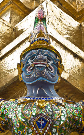 thai giant, created to convey meaning to the protection temple.