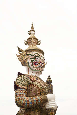 convey: thai giant, created to convey meaning to the protection temple or palace.