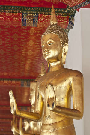 godliness: Buddha statue, Looking at the temple in Thailand  Stock Photo