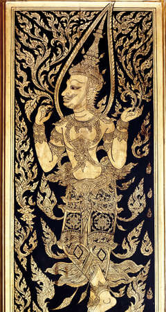 generality in thailand, any kind of art decorated in buddhist church, temple pavilion, temple hall, monk