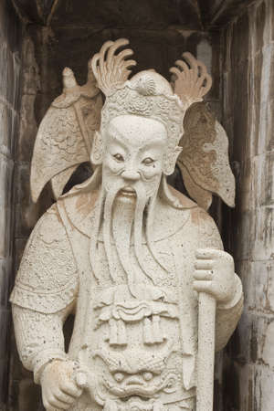 one of the eight statues of gods, according to Chinese beliefs
