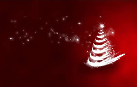 red christmas tree, christmas is a festival of people around the world has been waiting Stock Photo - 13768437