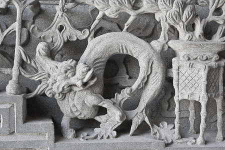stone carving, the carving is a beautiful taiwan art style. Stock Photo - 14810413