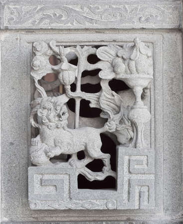 stone carving, the carving is a beautiful taiwan art style. Stock Photo - 14809629