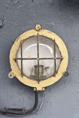 lamp in warship, this is old warship in thailand Stock Photo - 14810302