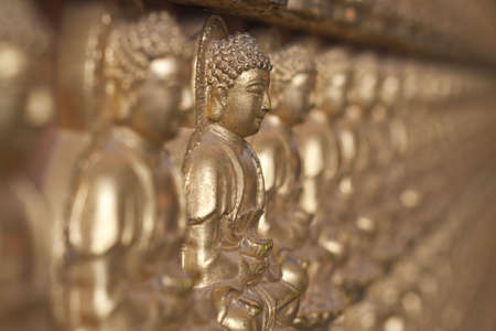 Buddha statue, Looking at the temple in Thailand  Editorial