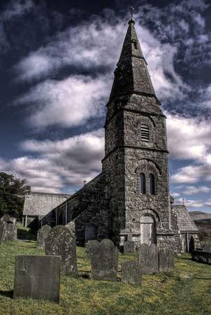 Welsh churchon a sunny day