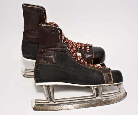 Old ice skating boots.