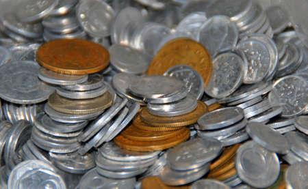 oude munten: oude munten Stockfoto