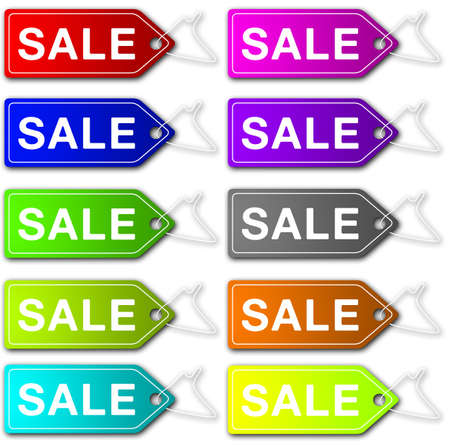 tally: Sale tags - color range