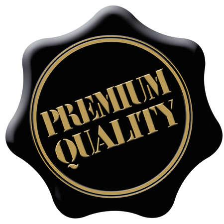 signet: sello de calidad premium Foto de archivo