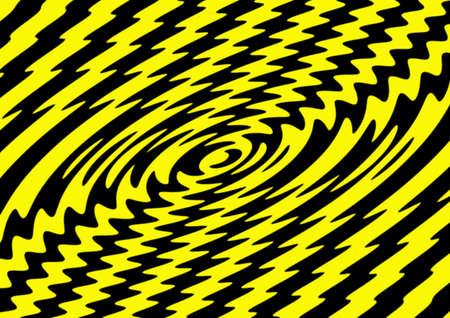 daubing: yellow - black twirl