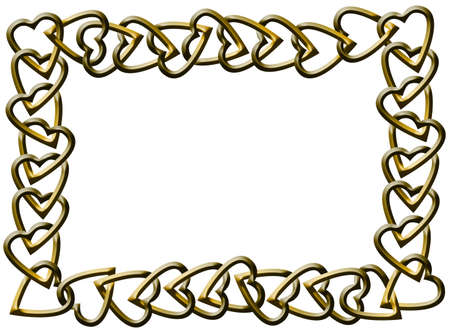 Hearts Chain Frame photo