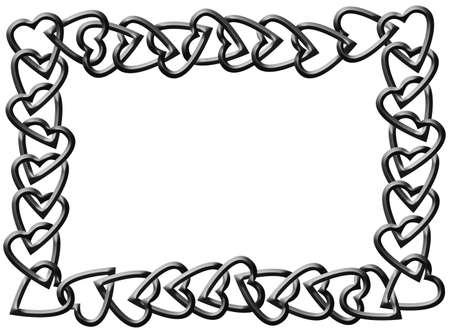 Hearts Chain Frame Stock Photo - 6500900