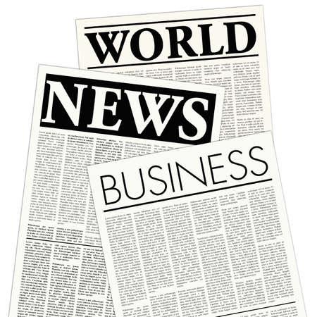 newsprint: fictitious newspaper