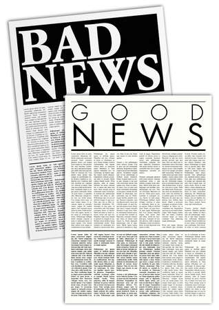 news stand: fictitious newspapers  Stock Photo