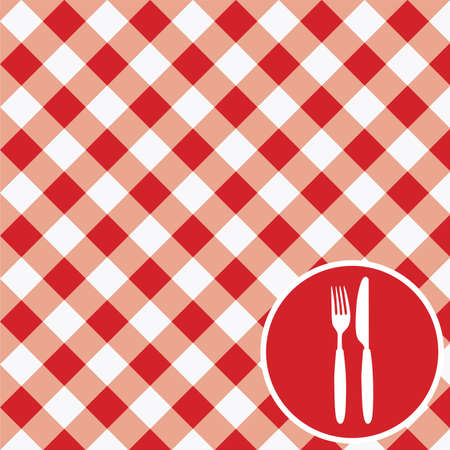 gingham: Menu Card