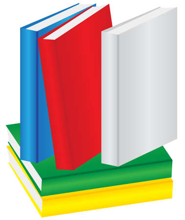 Illustration - Pile of Books in Different Colors Stock Vector - 7110473