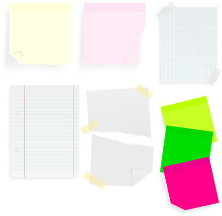 Memo Sticks and School Papers Stock Vector - 7180002