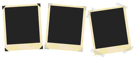 Blank vintage photo frames Vector