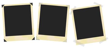 photo frame corner: Blank vintage photo frames