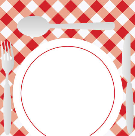 Menu Card - Red Gingham Stock Photo - 7205811