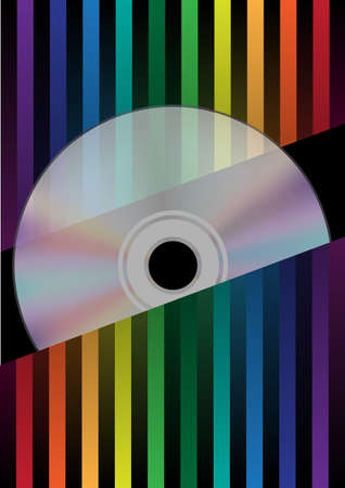 cd label:  Compact Disc on Spectrum Color Strips