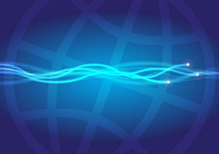 fiber optic cable: Globe and Optical Fibres Stock Photo