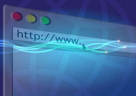 Blank web page photo