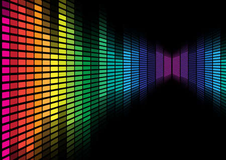 Ecualizador multicolor  Foto de archivo