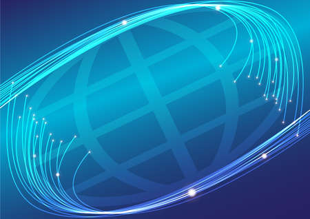 Optical Fibers and Globe photo